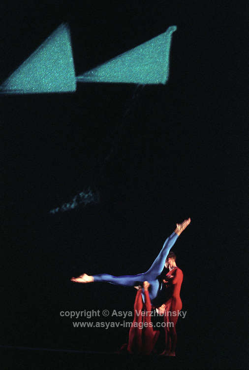 "Trisha Brown Dance Company in ""how long does the subject linger on the edge of the volume..."