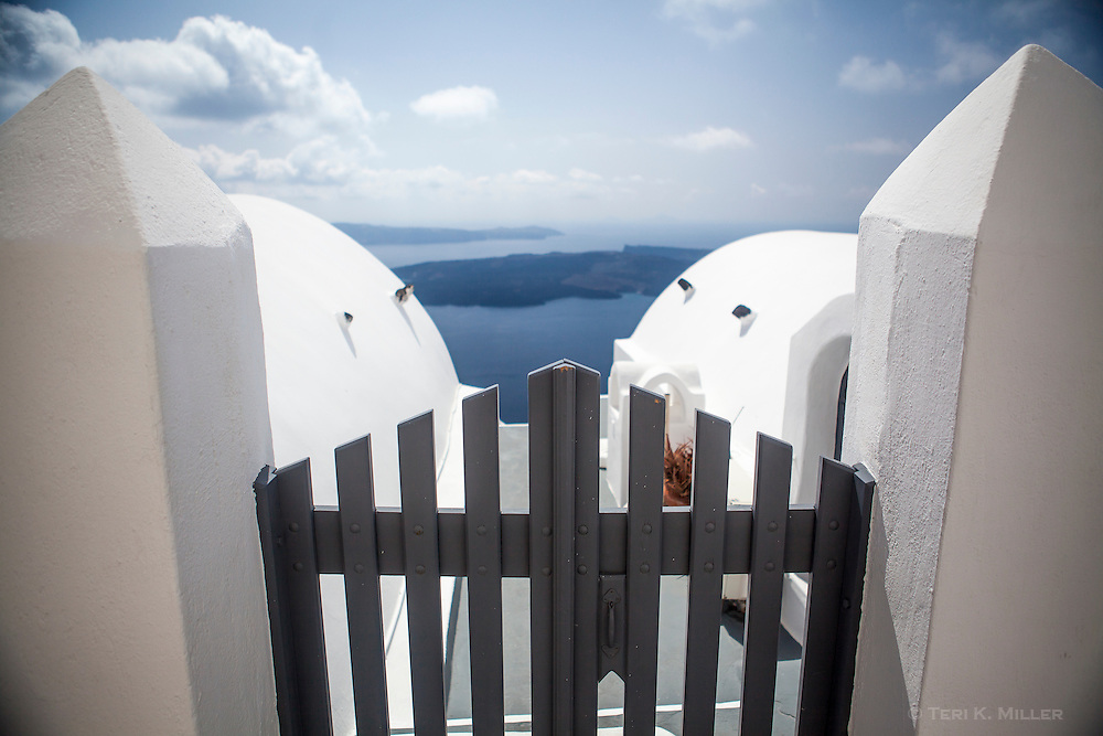 A view of the caldera from Santorini, Greece