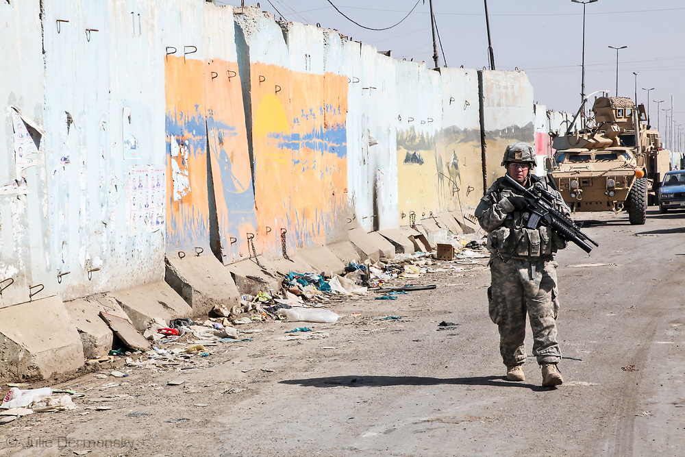 Louisiana National   Guard patrolling in Baghdad.
