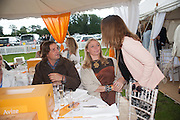 Andrea Vianini; Jodie Kidd, The Veuve Clicquot Gold Cup Final.<br /> Cowdray Park Polo Club, Midhurst, , West Sussex. 15 July 2012.