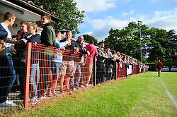 The crowd at Ashton and Backwell United - Photo mandatory by-line: Dougie Allward/JMP - Tel: Mobile: 07966 386802 03/07/2013 - SPORT - FOOTBALL - Bristol -  Ashton and Backwell United V Bristol City - Pre Season Friendly