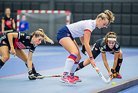 ROTTERDAM -  Mariette Boot (SCHC) ,  dames Amsterdam-SCHC.   ,hoofdklasse competitie  zaalhockey.   COPYRIGHT  KOEN SUYK