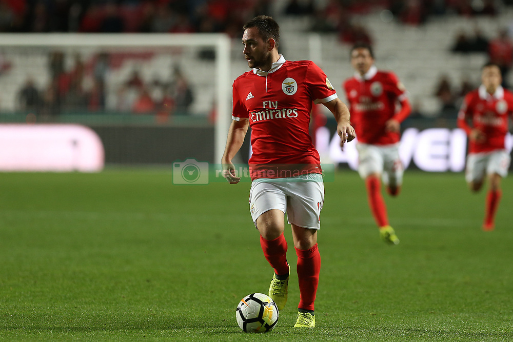 November 26, 2017 - Lisbon, Lisbon, Portugal - Benficas forward Andrija Zivkovic from Serbia during the Premier League 2017/18 match between SL Benfica and FC Vitoria Setubal, at Luz Stadium in Lisbon on November 26, 2017. (Credit Image: © Dpi/NurPhoto via ZUMA Press)