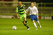 Delano Sam-Yorke during the Glos Senior Cup Final match between Forest Green Rovers and Bishops Cleeve at the New Lawn, Forest Green, United Kingdom on 2 May 2016. Photo by Shane Healey.