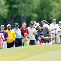 Apr 29, 2012; Avondale, LA, USA; Cameron Tringale chips onto the green on the ninth hole during the final round of the Zurich Classic of New Orleans at TPC Louisiana. Mandatory Credit: Derick E. Hingle-US PRESSWIRE