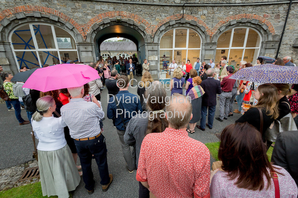 Repro Free No Charge for use<br /> <br /> 15-7-16<br /> The opening of Cr&eacute;, an exhibition of work by the 2016 graduates of the Design &amp; Crafts Council of Ireland&rsquo;s Ceramics Skills &amp; Design Course. <br /> <br /> The exhibition was officially opened by Dr. Audrey Whitty, Keeper of the Art and Industrial Division, National Museum of Ireland &ndash; Decorative Arts &amp; History. <br /> <br /> Cr&eacute; is open at the National Craft <br /> Gallery, Kilkenny until 1st August 2016.<br /> <br /> Picture Dylan Vaughan