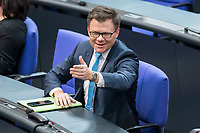 14 FEB 2019, BERLIN/GERMANY:<br /> Carsten Schneider, MdB, SPD, 1. Parl. Geschaeftsfuehrer SPD Bundestagsfraktion, Bundestagsdebatte, Plenum, Deutscher Bundestag<br /> IMAGE: 20190214-01-089<br /> KEYWORDS: Bundestag, Debatte