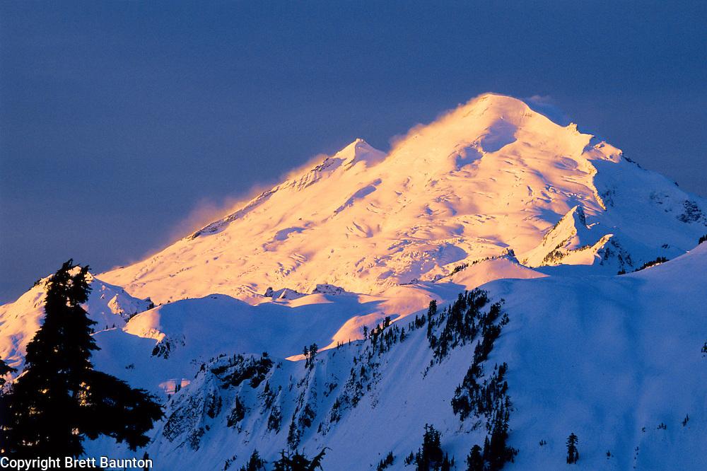 Mt. Baker Wilderness Area; Artist Point; Winter, Snow, Blue, Washington State;