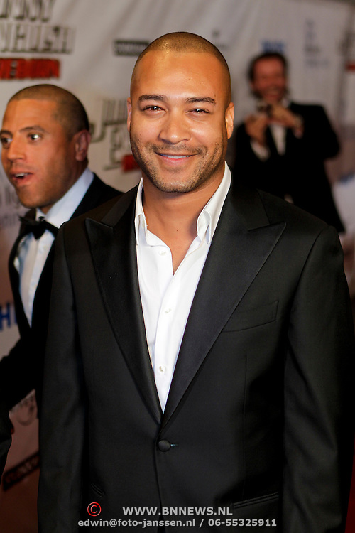 NLD/Amsterdam/20111003 - Premiere Johnny English Reborn, Everon Jackson Hooi