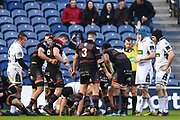 Jordan Lay scores try during the Guinness Pro 14 2017_18 match between Edinburgh Rugby and Glasgow Warriors at Myreside Stadium, Edinburgh, Scotland on 28 April 2018. Picture by Kevin Murray.