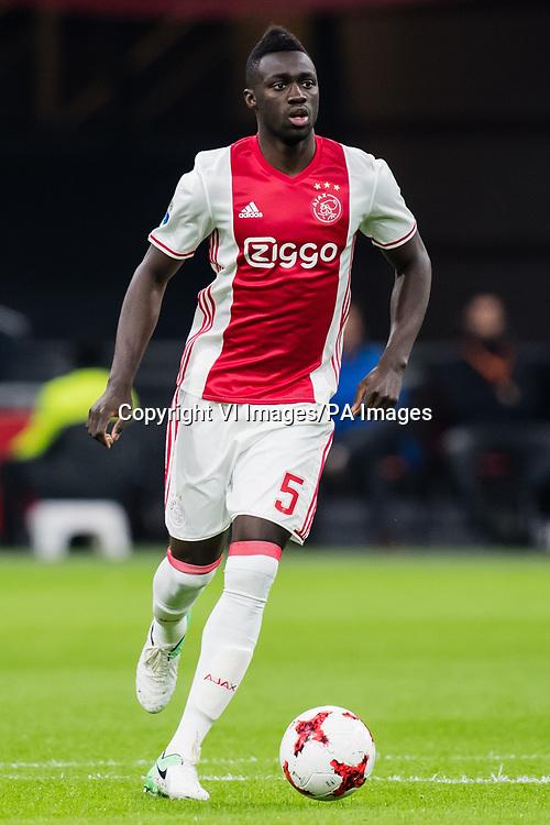 Davinson Sanchez of Ajax during the Dutch Eredivisie match between Ajax Amsterdam and AZ Alkmaar at the Amsterdam Arena on April 05, 2017 in Amsterdam, The Netherlands