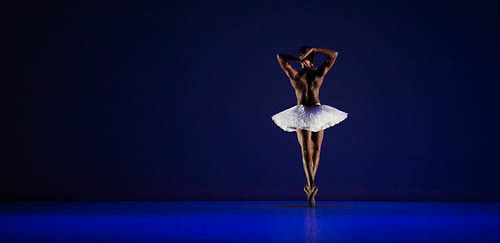 London, UK. 17th June 2014. Dancers perform Dada Masilo's Swan Lake at Sadler's Wells as part of the Sadler's Sampled  opening on the 18th June. The dancers are: Nicola Haskins (MC/Siegfrieds Mother), Dada Masilo (Odette), Songezo Mcilizeli (Seigfried), Llewellyn Mngun (Odile), Kyle Roddouw (Siegfrieds Father), Shereen Nebula (Odettes Mother). <br /> <br />  &copy; Thomas Bowles/Alamy Live News