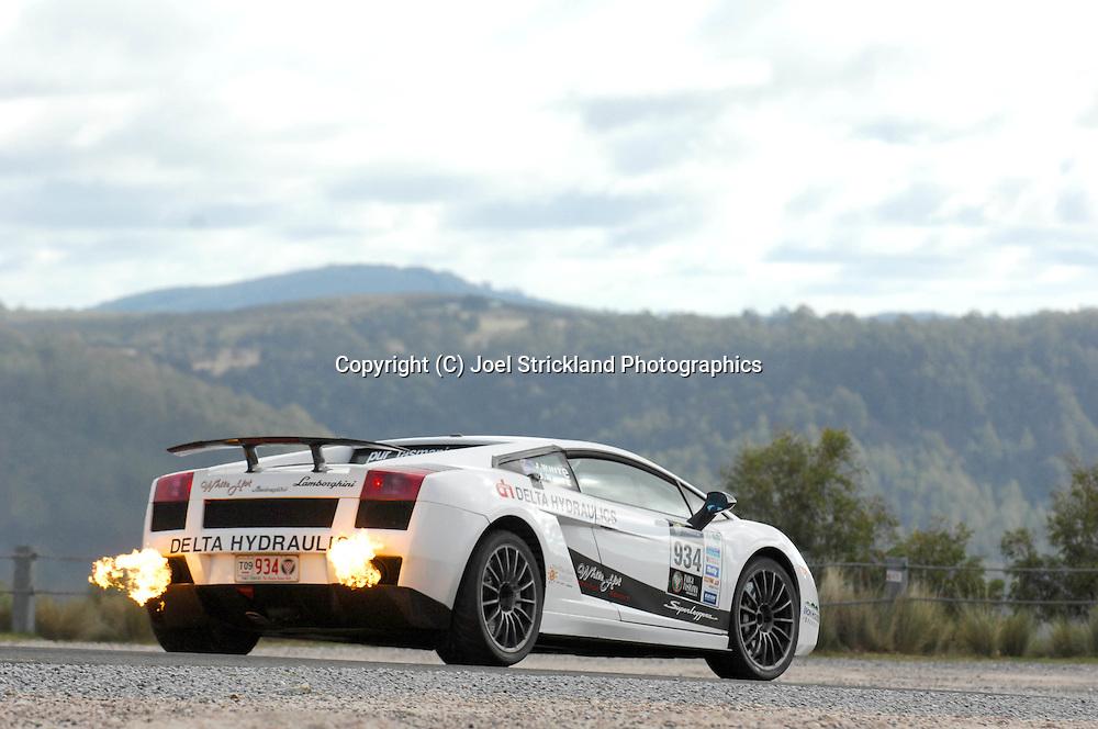 Jason White & John White .2007 Lamborghini Gallardo Superleggera.Day 4.Targa Tasmania 2009.2nd of May 2009.(C) Joel Strickland Photographics.
