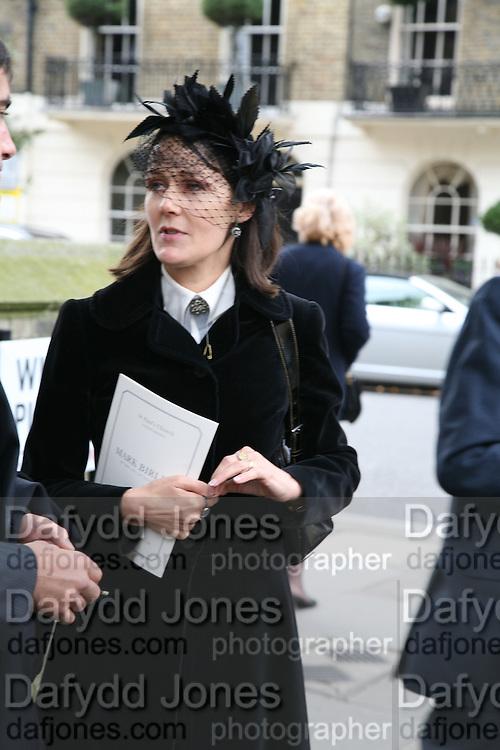Lucy Ferry, Mark Birley funeral. St Paul's , Knightsbridge. London. 19 September 2007. -DO NOT ARCHIVE-© Copyright Photograph by Dafydd Jones. 248 Clapham Rd. London SW9 0PZ. Tel 0207 820 0771. www.dafjones.com.