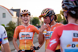 Amalie Dideriksen (Boels Dolmans) enjoys the win with her teammates at the 103 km Stage 1 of the Boels Ladies Tour 2016 on 30th August 2016 in Tiel, Netherlands. (Photo by Sean Robinson/Velofocus).