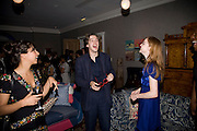 OONA CHAPLIN , DAN STEVENS AND SUSIE HARIET,  'Cries from the Heart' presented by Human Rights Watch at the Theatre Royal Haymarket. London. Party afterwards at the Haymarket Hotel. June 8, 2008 *** Local Caption *** -DO NOT ARCHIVE-© Copyright Photograph by Dafydd Jones. 248 Clapham Rd. London SW9 0PZ. Tel 0207 820 0771. www.dafjones.com.