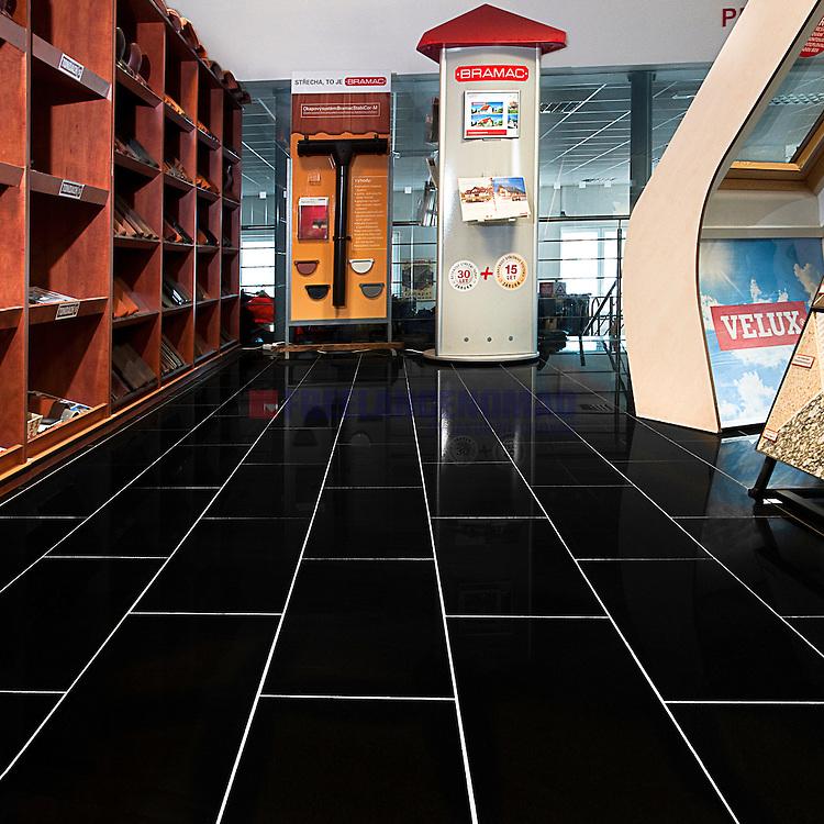 Shanxi China black granite g001 glazed shop interior flooring tiles