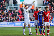 Bristol City goalkeeper, Richard O'Donnell (12) during the Sky Bet Championship match between Bristol City and Cardiff City at Ashton Gate, Bristol, England on 5 March 2016. Photo by Shane Healey.