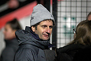 Arsenal manager Joe Montemurro  during the FA Women's Super League match between Arsenal Women and Yeovil Town Women at Meadow Park, Borehamwood, United Kingdom on 20 February 2019.