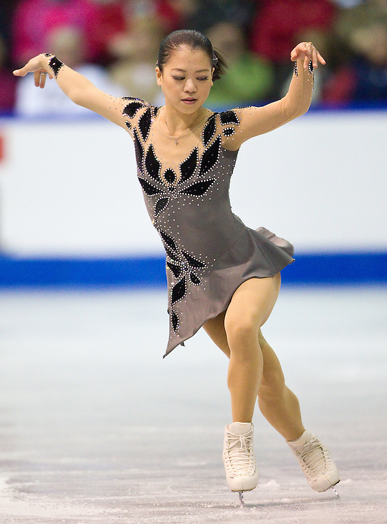GJR -20111028- Mississauga, Ontario,Canada-  Akiko Suzuki skates her short program at Skate Canada International, October 28, 2011.<br /> AFP PHOTO/Geoff Robins