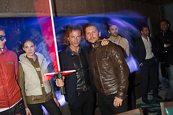 Left to right, MANUELE MALENOTTI and MICHELE MALENOTTI at the launch of the new Matchless Star Wars collection at Sexy Fish, Berkeley Square, London on 4th November 2015.