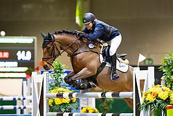 Zelderloo Oscar, BEL, Pippa Pooh van het Prinsenbos<br /> Nationaal Indoor Kampioenschap Pony's LRV <br /> Oud Heverlee 2019<br /> © Hippo Foto - Dirk Caremans<br /> 09/03/2019
