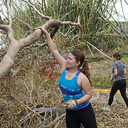 OCTOBER 5, 2017- RIO PIEDRAS, PUERTO RICO - <br /> University of Puerto Rico student   Sara Torres, 19, political science major, volunteers to clean the campus following the destruction left by Hurricane Maria.<br /> (Photo by Angel Valentin)