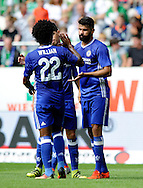 Diego Costa of Chelsea celebrates scoring with team mates during the pre season friendly match at Weserstadion, Bremen, Germany.<br /> Picture by EXPA Pictures/Focus Images Ltd 07814482222<br /> 07/08/2016<br /> *** UK & IRELAND ONLY ***<br /> EXPA-EIB-160807-0250.jpg