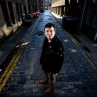 Ian Rankin,Scottish Author and creator of the Inspector Rebus novels in street in Edinburgh..Picture Michael Hughes/Maverick