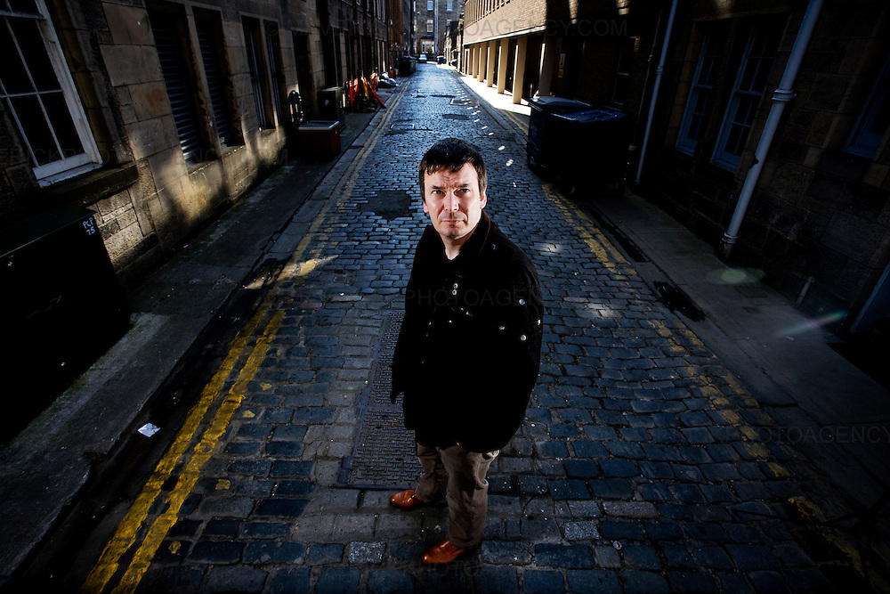 Ian Rankin,Scottish Author and creator of the Inspector Rebus novels in street in Edinburgh..Picture Michael Hughes/Maverick