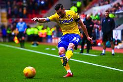 Jack Harrison of Leeds United puts in the cross - Mandatory by-line: Ryan Crockett/JMP - 26/01/2019 - FOOTBALL - Aesseal New York Stadium - Rotherham, England - Rotherham United v Leeds United - Sky Bet Championship