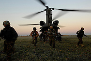 Iraqi Army Emergency Services Unit members conduct an air assault mission to the Mrbat Garhat Village near Kirkuk, Iraq during Operation Eagle Claw XI, Jan., 23, 2007. Operation Eagle Claw XI is a cordon search of the village for weapons, persons of high interest and the gathering of intelligence.