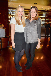 Left to right, ASTRID HARBORD and NATALIE PINKHAM at a ladies lunch in aid of the charity Child Bereavement UK held at The Bulgari Hotel, 171 Knightsbridge, London on 25th February 2016.