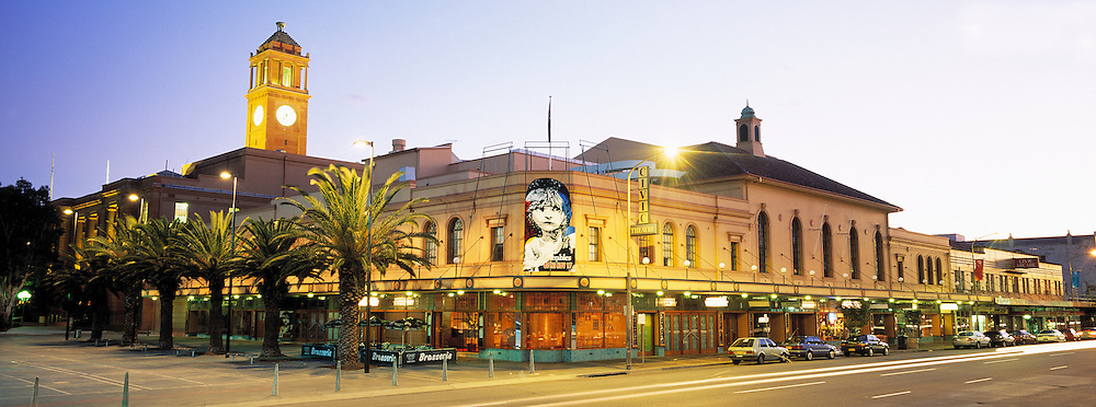 Civic Theatre at dusk, Newcastle, NSW, Australia