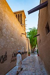 Original historic Al Fahidi district , al Bastakiya , in Dubai, United Arab Emirates