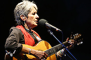 Cimiez-Nice, France. July 26th 2008..Joan Baez performs at the Nice jazz Festival.