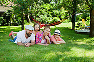 Family With Two Children, Cheerful, Relaxation