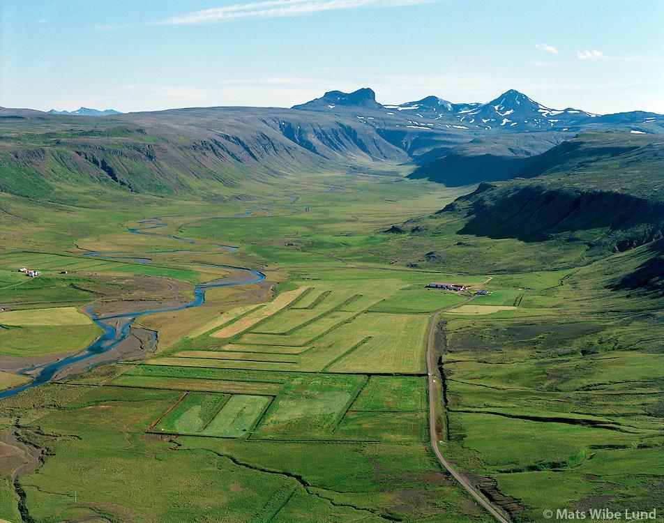 Stóri-Langidalur séð til suðurs,  Dalabyggð áður Skógarstrandarhreppur /.Stori-Langidalur viewing south,  Dalabyggd former Skogarstrandarhreppur