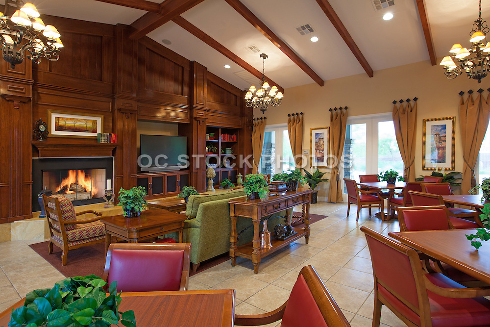 Club House Interior Stock Photo