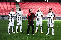 Benoit Costil / Abdoulaye Diallo / Christophe Revel / Edvinas Gertmonas / Olivier Sorin - 15.09.2015 - Photo officielle Rennes - Ligue 1 2015/2016<br /> Photo : Philippe Le Brech / Icon Sport