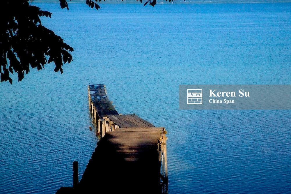 Dock at Lago Peten Itza, Remate, Guatemala