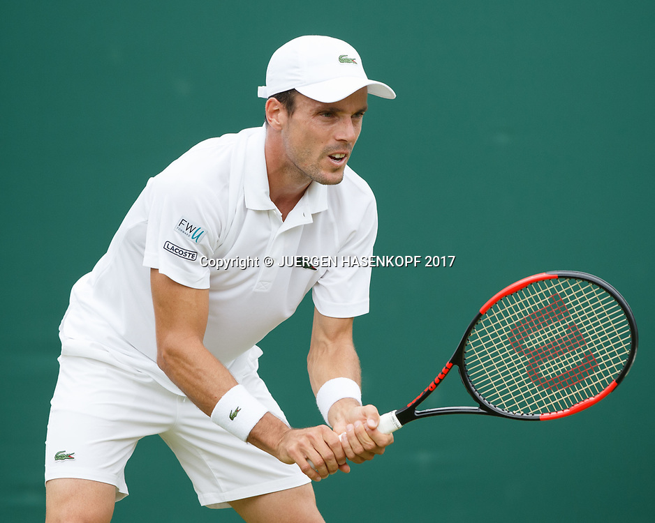 ROBERTO BAUTISTA AGUT (ESP)<br /> <br /> Tennis - Wimbledon 2017 - Grand Slam ITF / ATP / WTA -  AELTC - London -  - Great Britain  - 3 July 2017.