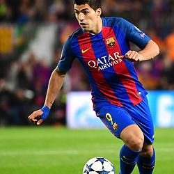 Luis Suarez of Barcelona during the Uefa Champions League Round of 16 second leg match between FC Barcelona and Paris Saint Germain at Camp Nou on March 8, 2017 in Barcelona, Spain. (Photo by Dave Winter/Icon Sport)