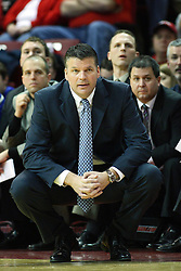 13 January 2012:  Greg McDermott during an NCAA Missouri Valley Conference mens basketball game where the Creighton Bluejays topped the Illinois State Redbirds 87-78 in Redbird Arena, Normal IL