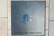 Plaque at the Sea Organ (Morske orgulje), Old Town Zadar, Dalmatian Coast, Croatia