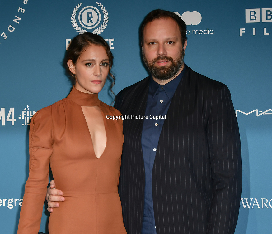 Ariane Labed and Yorgos Lanthimos Arrivers at The 21sh British Independent Film Awards at 1 Old Billingsgate Walk on 21 December 2018, London, UK.