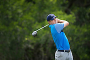 Jordan Spieth tees off during the first round of the AT&T Byron Nelson in Las Colinas, Texas on May 28, 2015. (Cooper Neill for The New York Times)