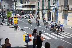 A break reaches half-way point in the fourth lap of Stage 10 of the Giro Rosa - a 124 km road race, starting and finishing in Torre Del Greco on July 9, 2017, in Naples, Italy. (Photo by Balint Hamvas/Velofocus.com)