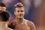 16 July 2009: L.A. Galaxy David Beckham #23 during his 1st game back after being on loan to AC  Milan . in Giant Stadium against the New York Red Bulls in East Rutherford, New Jersey L.A won 3-1.
