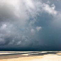 Storm clouds over Paje beach, Zanzibar